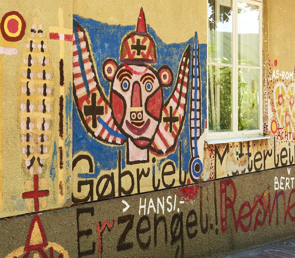 Graffitto von August Walla, Haus der Künstler, Gugging