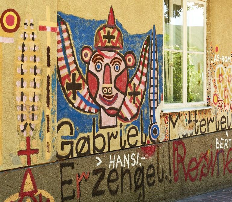 Graffitto von August Walla, Haus der Künstler, Gugging © Markus Gradwohl