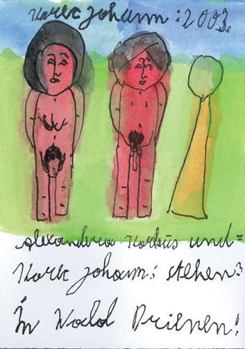 Johann Korec, Alexandera Korbus und=, 2003 © Privatstiftung – Künstler aus Gugging © Privatstiftung – Künstler aus Gugging