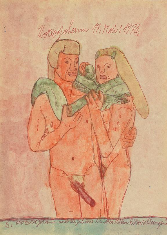 Johann Korec, 5. Der Korec Johann, 1974 © Privatstiftung – Künstler aus Gugging
