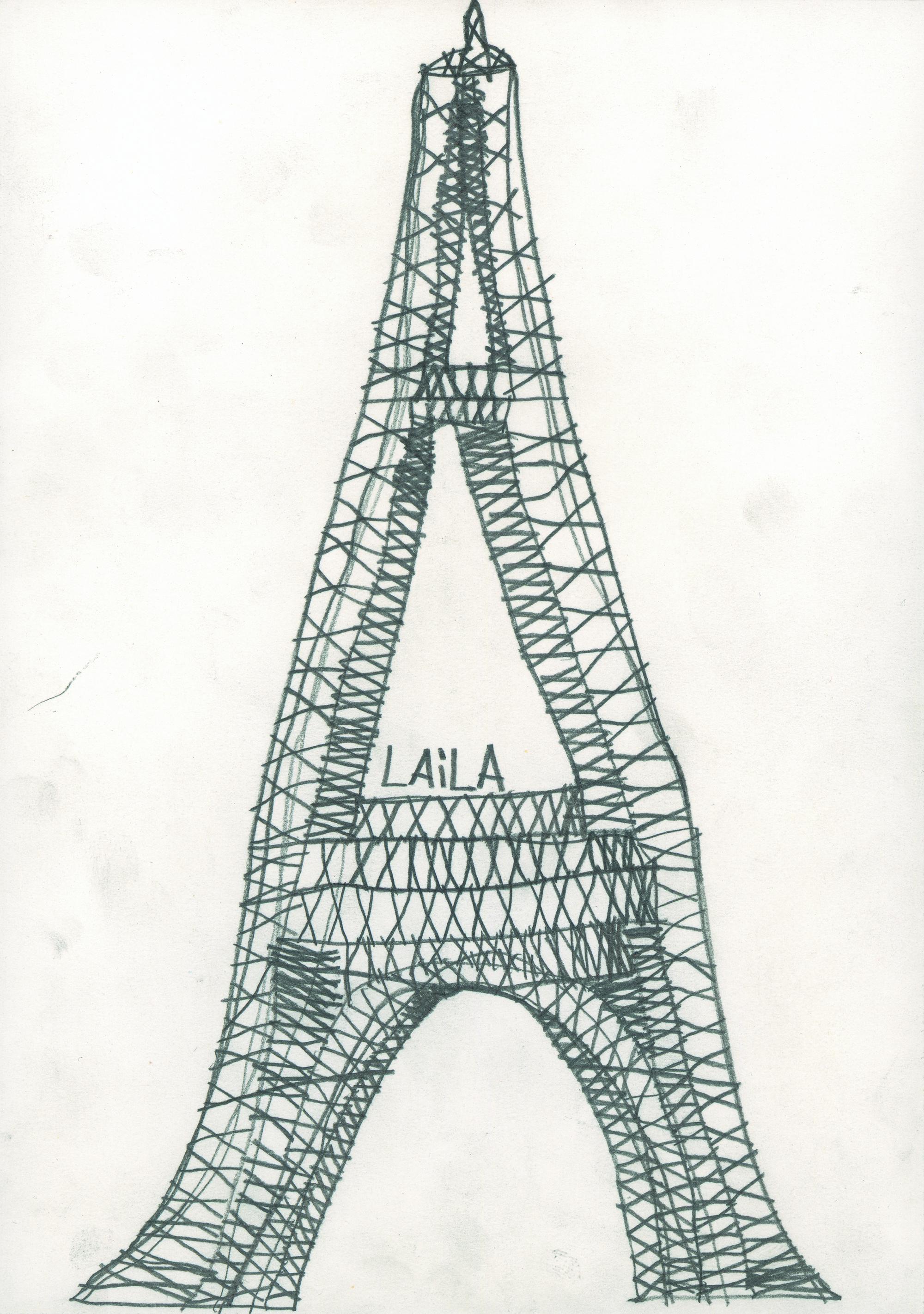 Laila Bachtiar, Eiffelturm, 1992 © galerie gugging