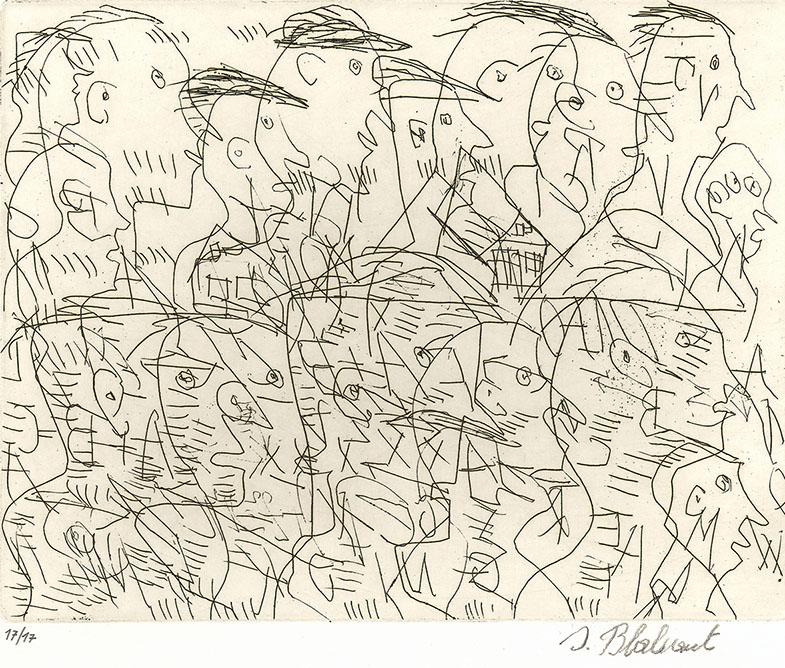 Josef Blahaut, Viele Köpfe, undatiert © Privatstiftung – Künstler aus Gugging