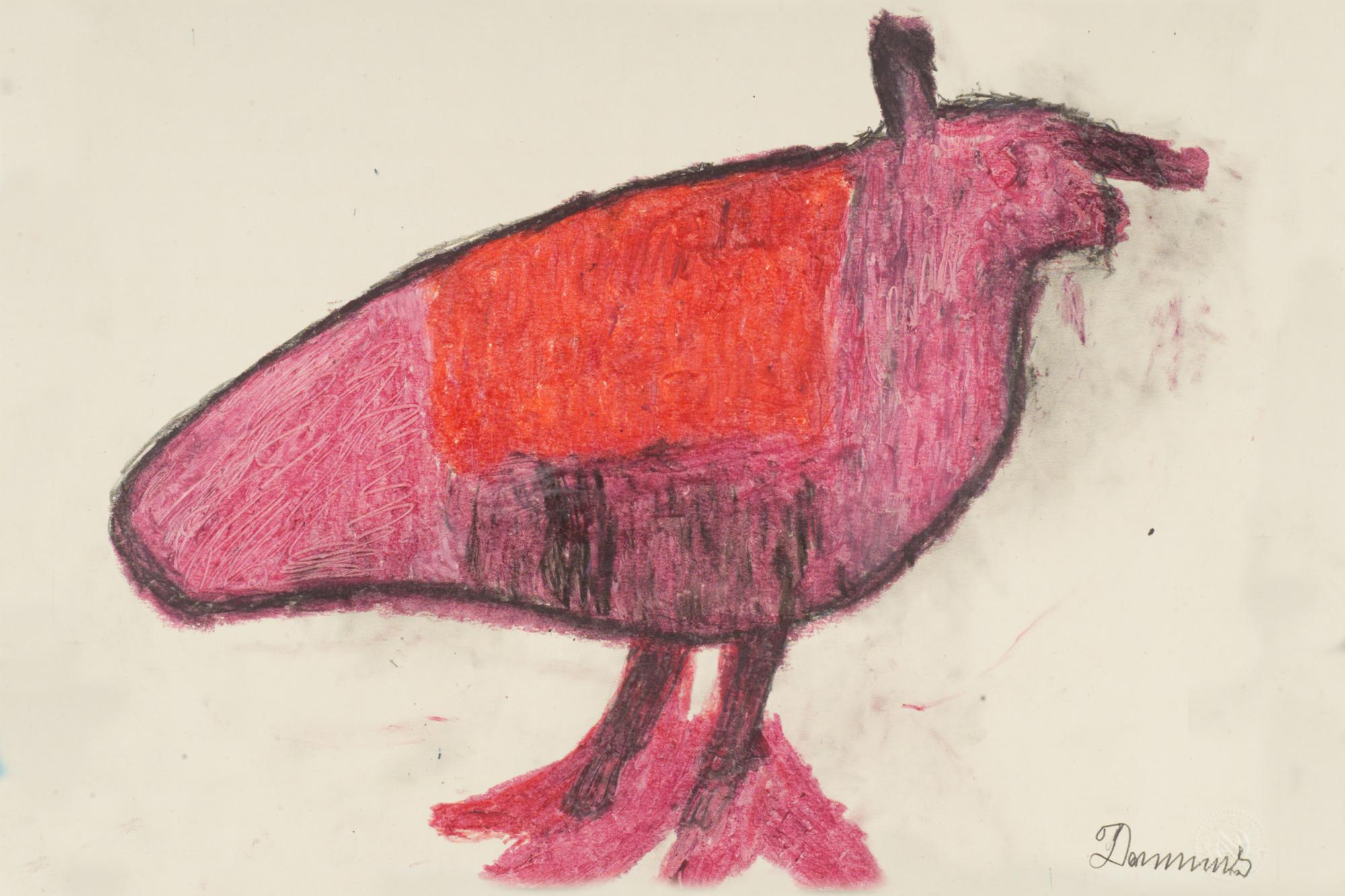 Anton Dobay, Vogel, undatiert, © Privatstiftung - Künstler aus Gugging