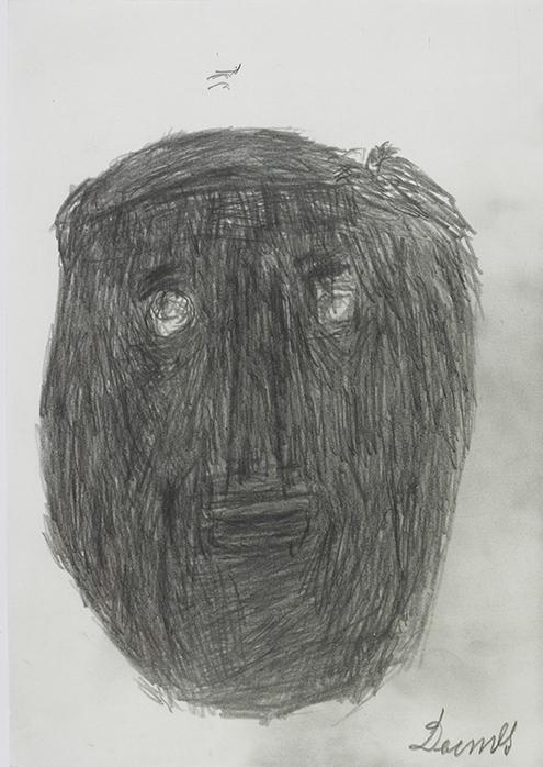 Anton Dobay, Portrait Navratil, 1973 © Privatstiftung – Künstler aus Gugging