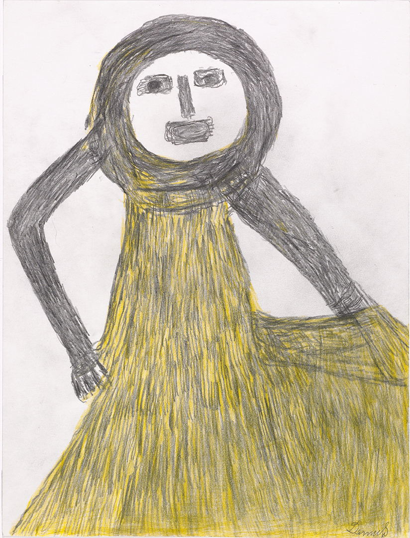 Anton Dobay, Gelbe Frau, 1974  © Privatstiftung - Künstler aus Gugging