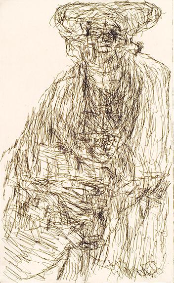 """Anton Dobay, nach einem Gemälde """"Friedrich der Weise, undatiert © Privatstiftung – Künstler aus Gugging"""