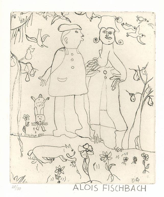 Alois Fischbach, Das Paar, undatiert © Privatstiftung - Künstler aus Gugging