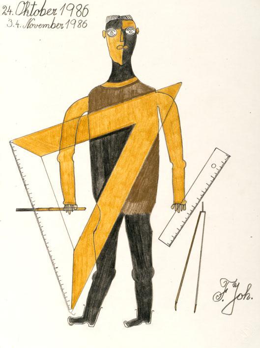 Johann Fischer, Techniker, 1986  © Privatstiftung - Künstler aus Gugging