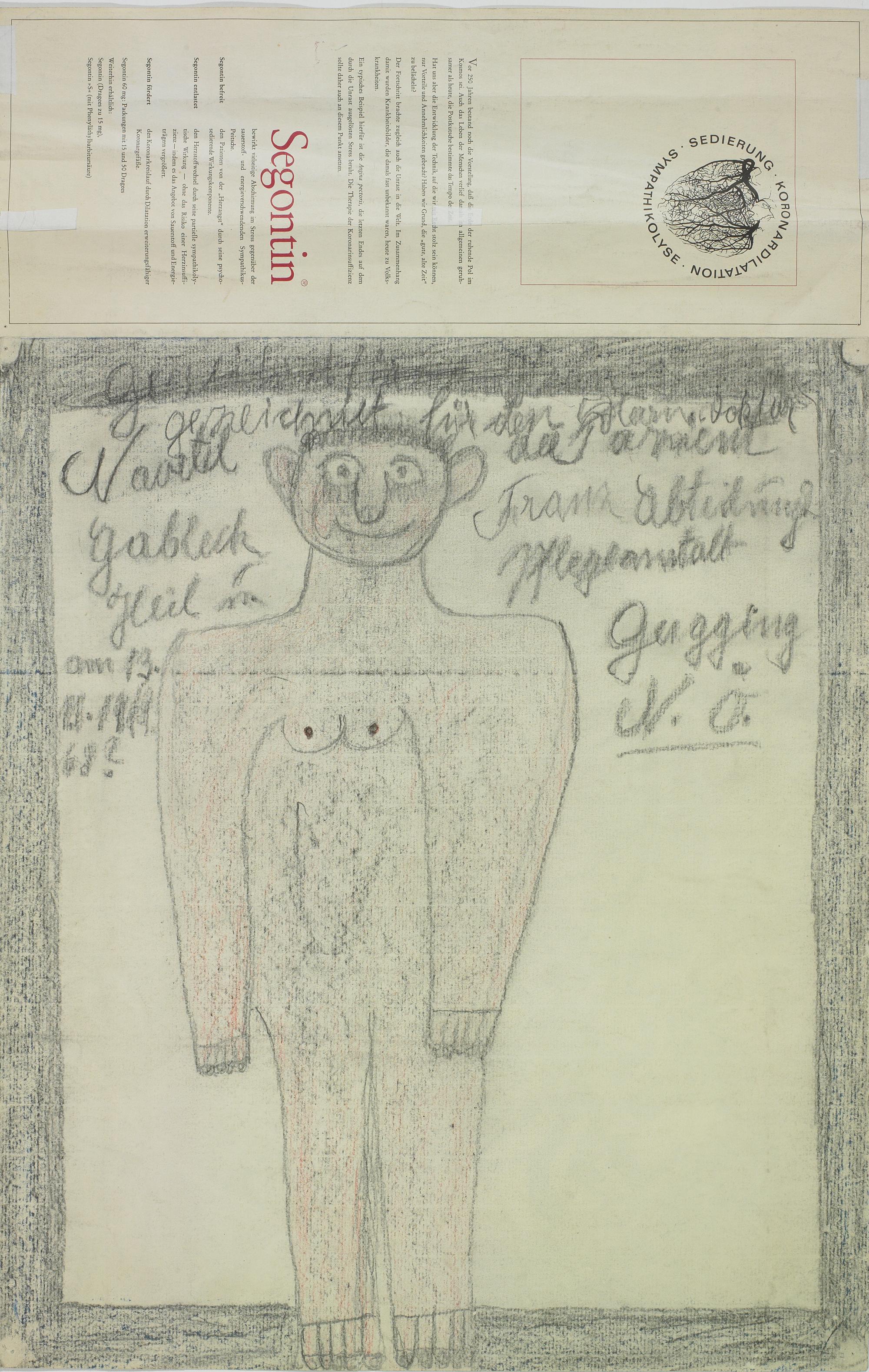 Franz Gableck, Ohne Titel, 1968 © Privatstiftung – Künstler aus Gugging