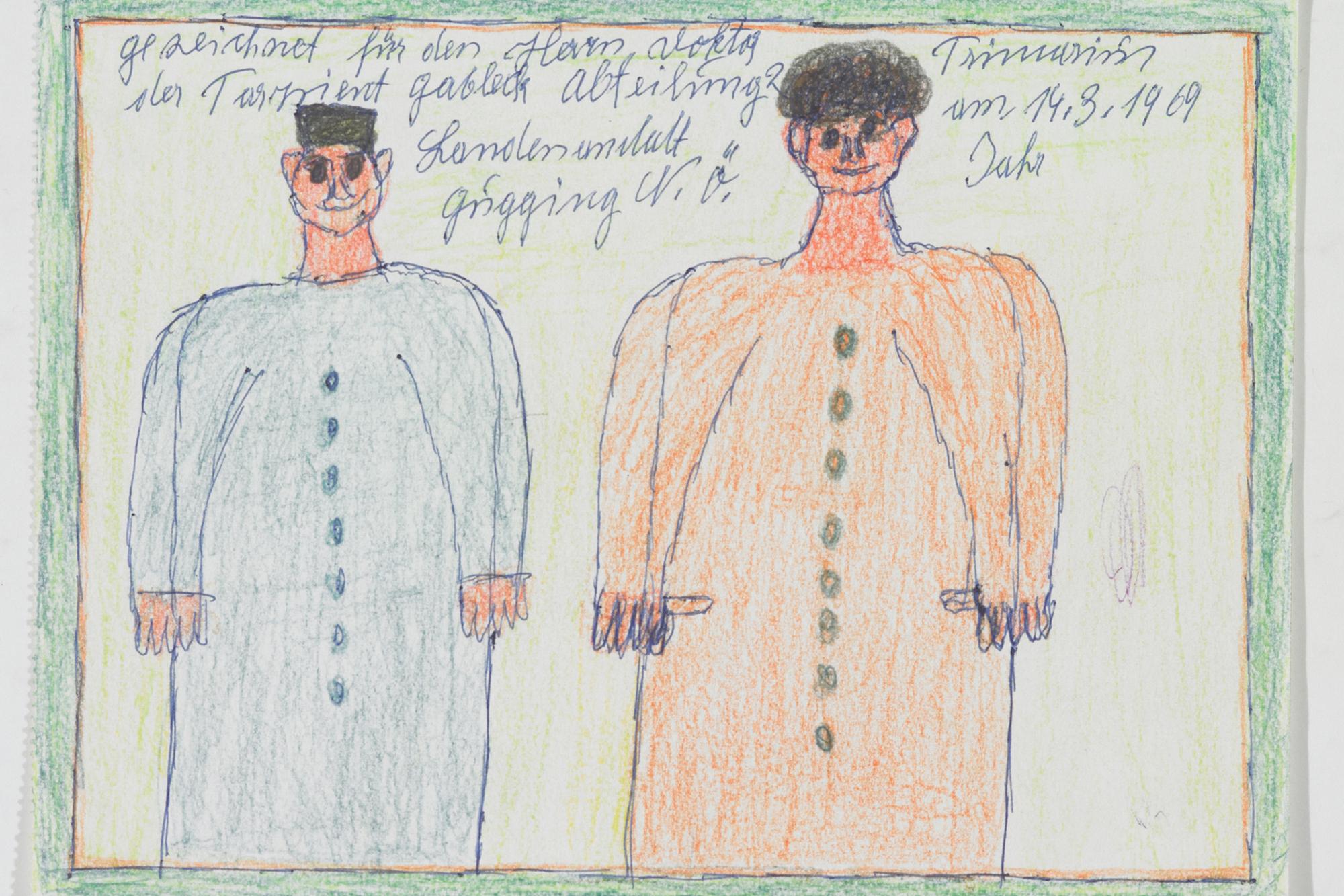 Franz Gableck, Ein Paar, 1969 © Privatstiftung – Künstler aus Gugging