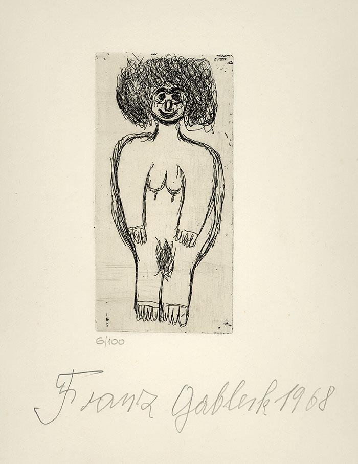 Franz Gableck, Frau, 1968 © Privatstiftung – Künstler aus Gugging