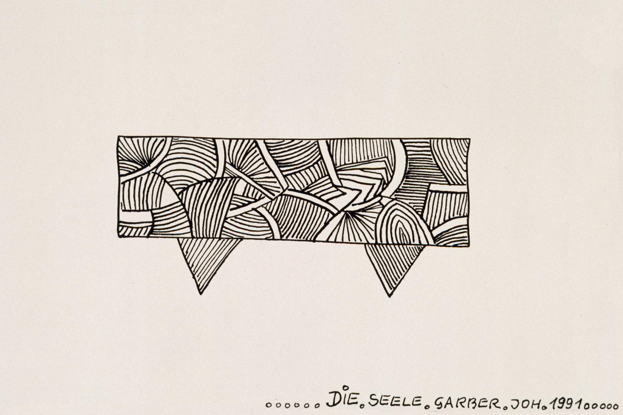 Johann Garber, DIE.SEELE, 1991 © Prof. Karlheinz Essl, Klosterneuburg © Privatstiftung – Künstler aus Gugging