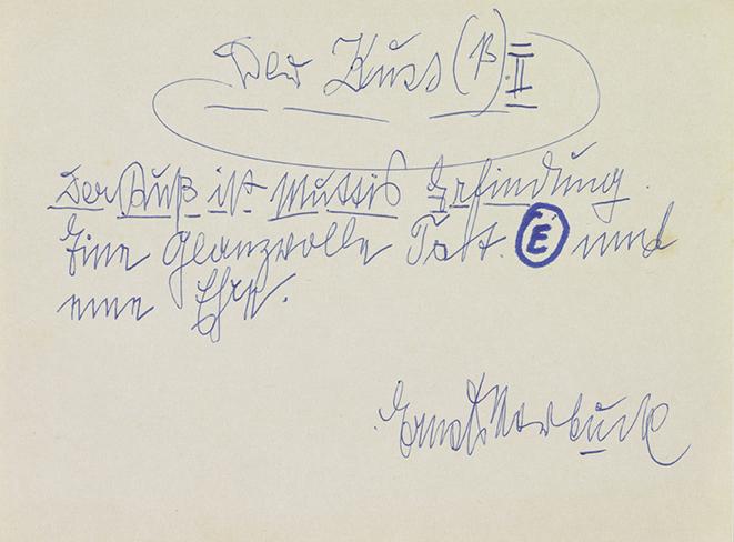 Ernst Herbeck, Der Kuss(ß), undatiert © Sammlung Gugging