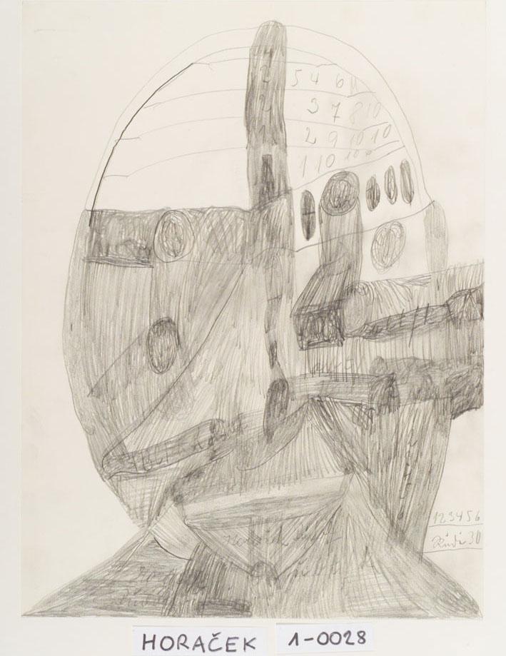 Rudolf Horacek, Gesicht, undatiert © Privatstiftung – Künstler aus Gugging