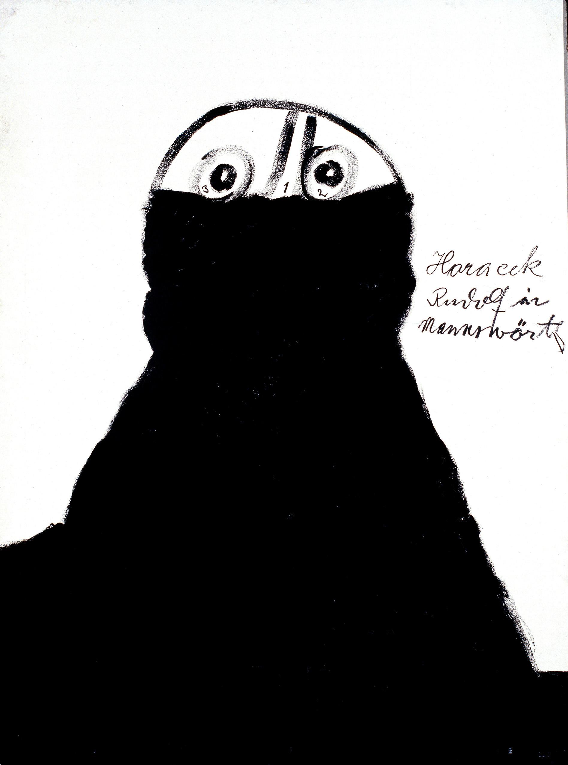 Rudolf Horacek, Rudolf Horacek in Mannswörth, 1984 © Privatstiftung – Künstler aus Gugging