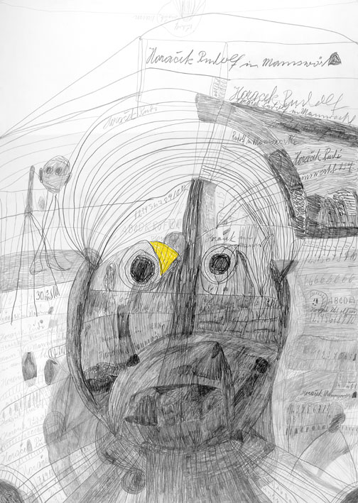 Rudolf Horacek, Kopf, 1984 © Privatstiftung – Künstler aus Gugging