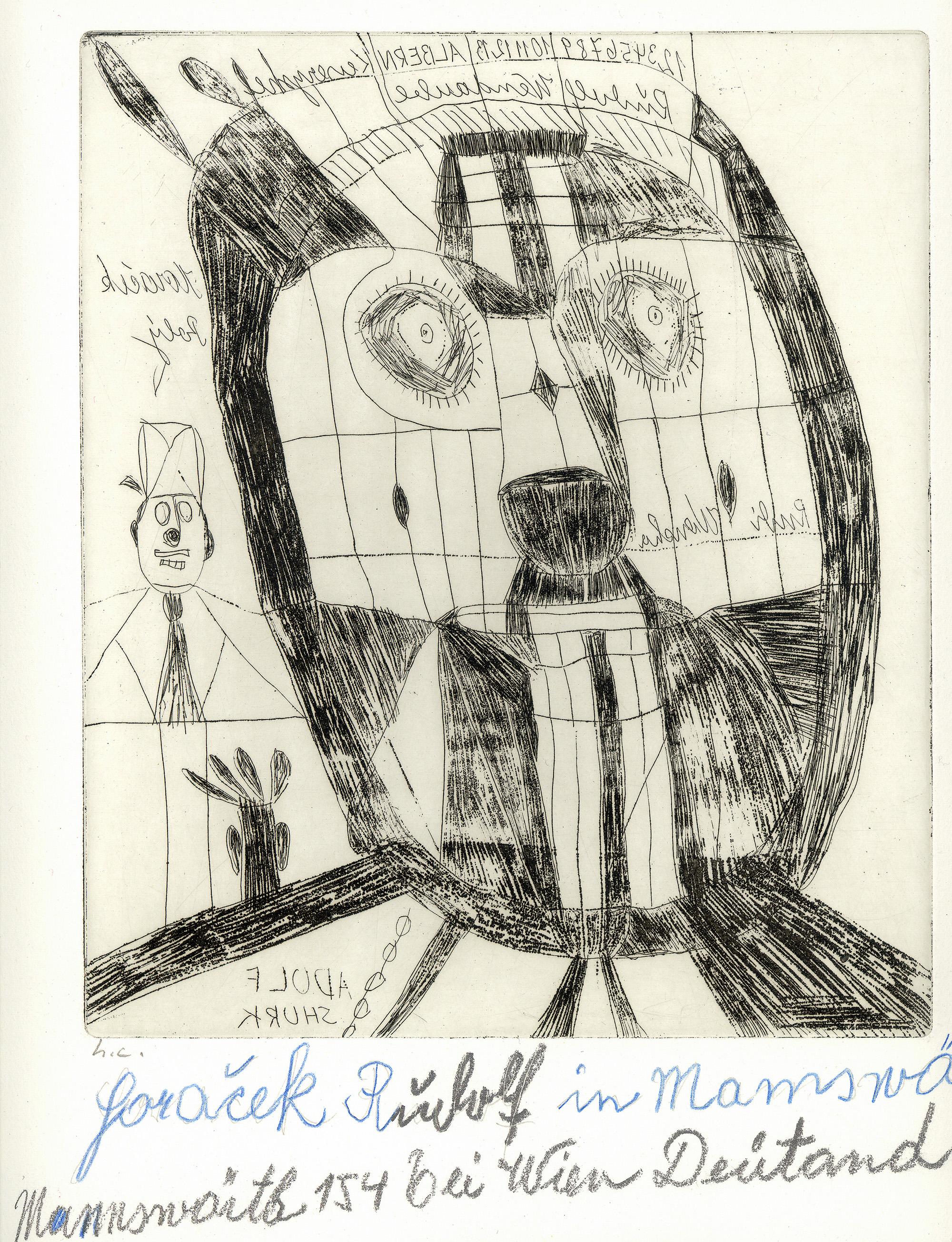 Rudolf Horacek, ADOLF SHURK, undatiert © Privatstiftung – Künstler aus Gugging