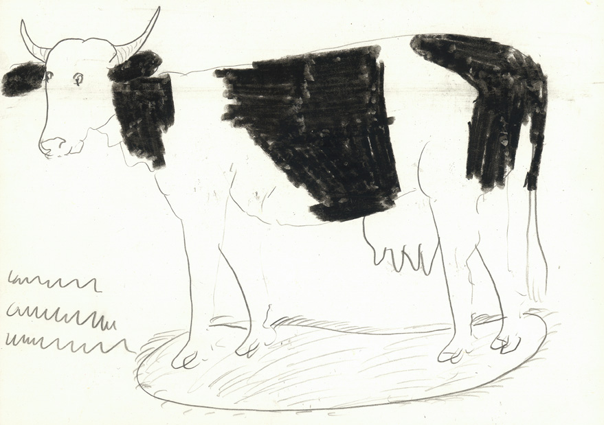 Franz Kamlander, Kuh, undatiert  © Art Brut KG