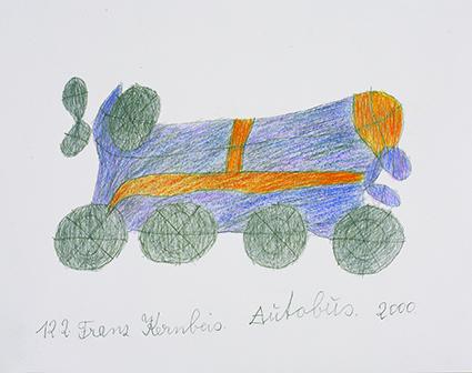 Franz Kernbeis, Autobus, 2000 © Privatstiftung – Künstler aus Gugging