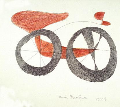 Franz Kernbeis, Fahrrad, 2001 © Privatstiftung – Künstler aus Gugging
