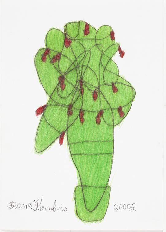 Franz Kernbeis, Christbaum, 2008 © Privatstiftung  - Künstler aus Gugging