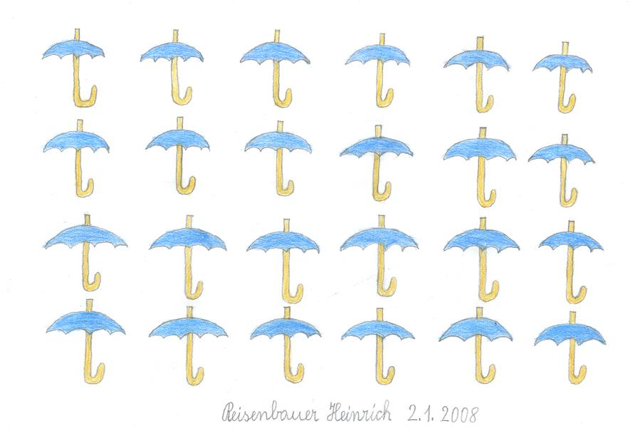 Heinrich Reisenbauer, Schirme, 2008 © Privatstiftung - Künstler aus Gugging