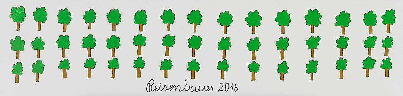 Heinrich Reisenbauer, Bäume, 2016 © Privatstiftung – Künstler aus Gugging