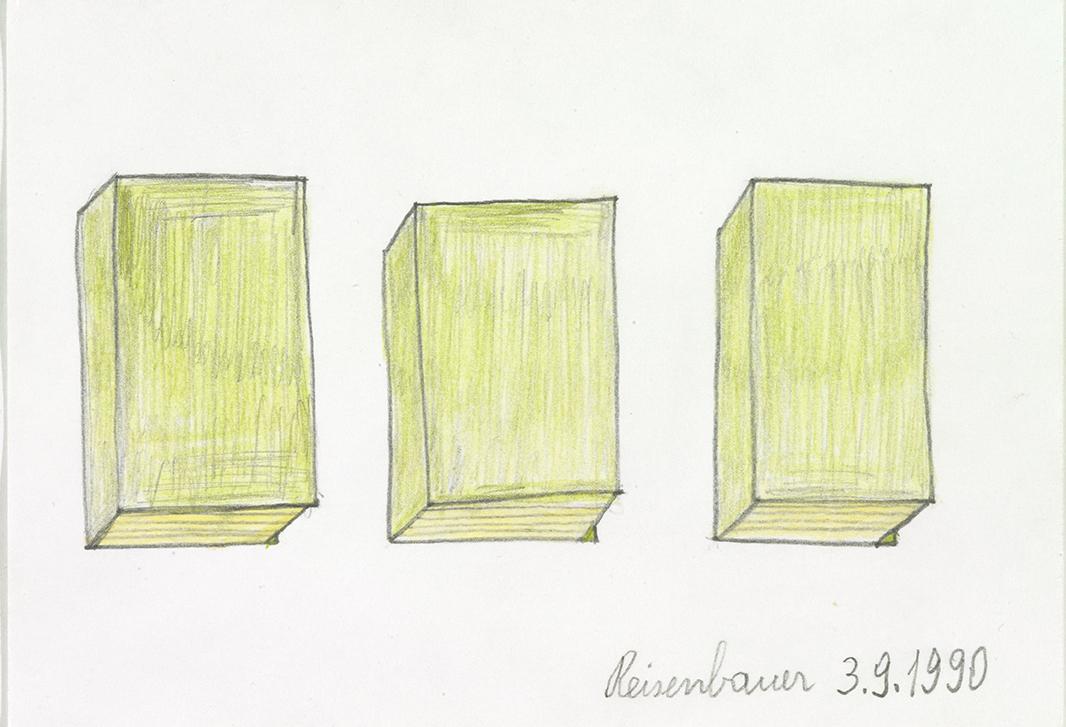 Heinrich Reisenbauer, Bücher, 1990 © Privatstiftung – Künstler aus Gugging