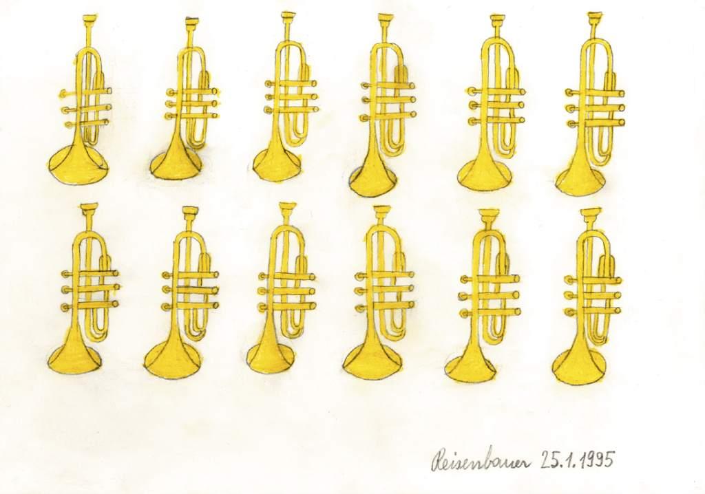 Heinrich Reisenbauer, Trompeten, 1995 © Privatstiftung – Künstler aus Gugging