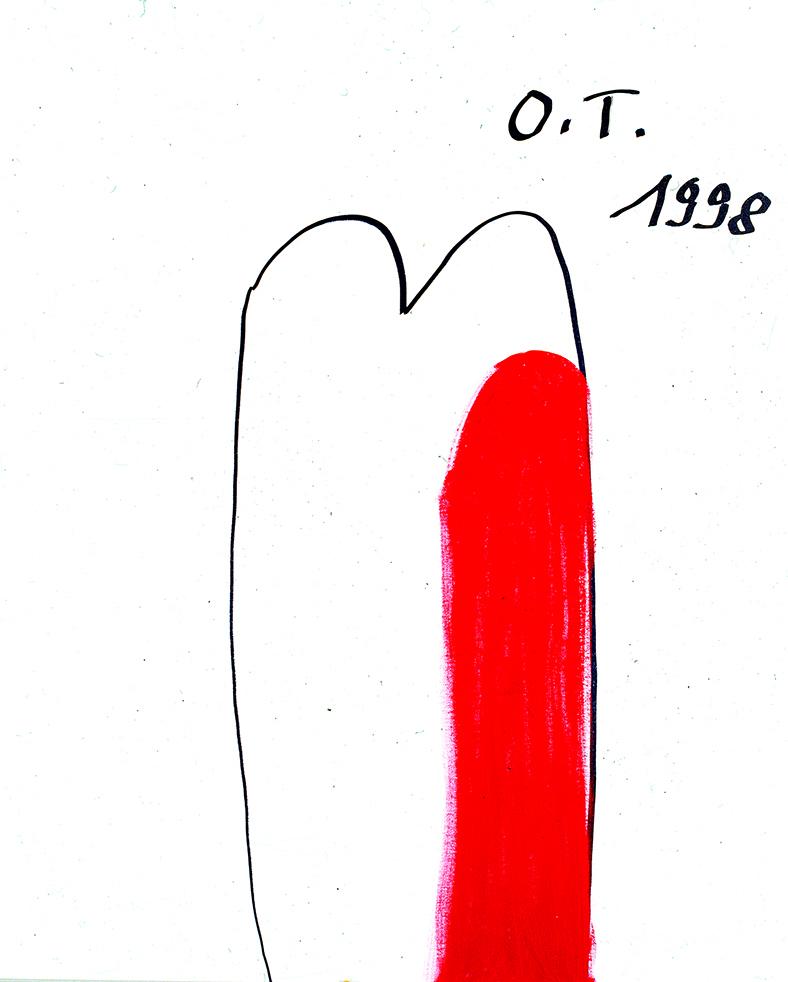 Oswald Tschirtner, Herz, 1998 © Privatstiftung – Künstler aus Gugging