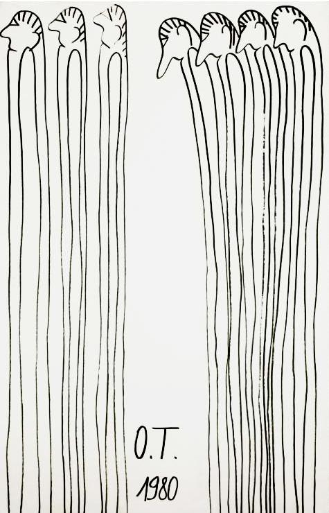 Oswald Tschirtner, Menschen, 1980 © Privatstiftung – Künstler aus Gugging