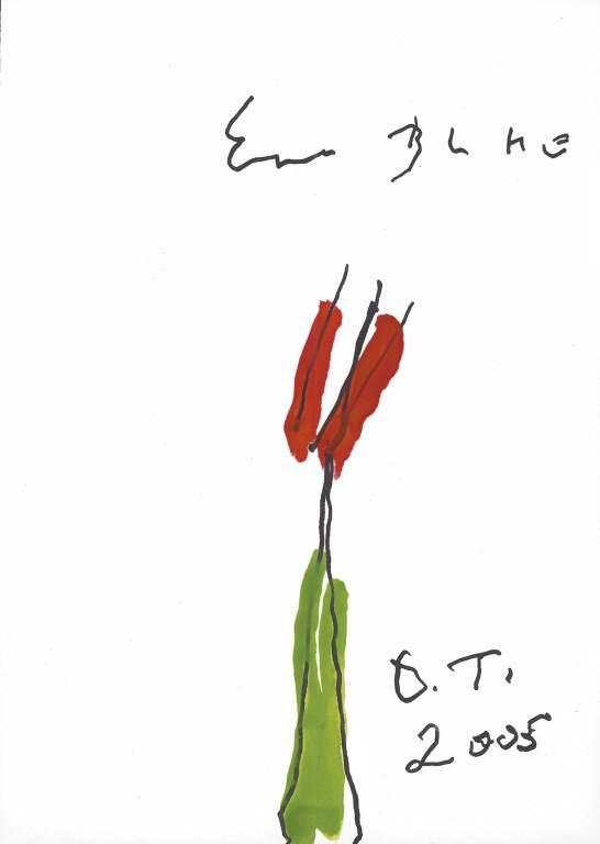 Oswald Tschirtner, Eine Blume, 2005 © Privatstiftung – Künstler aus Gugging
