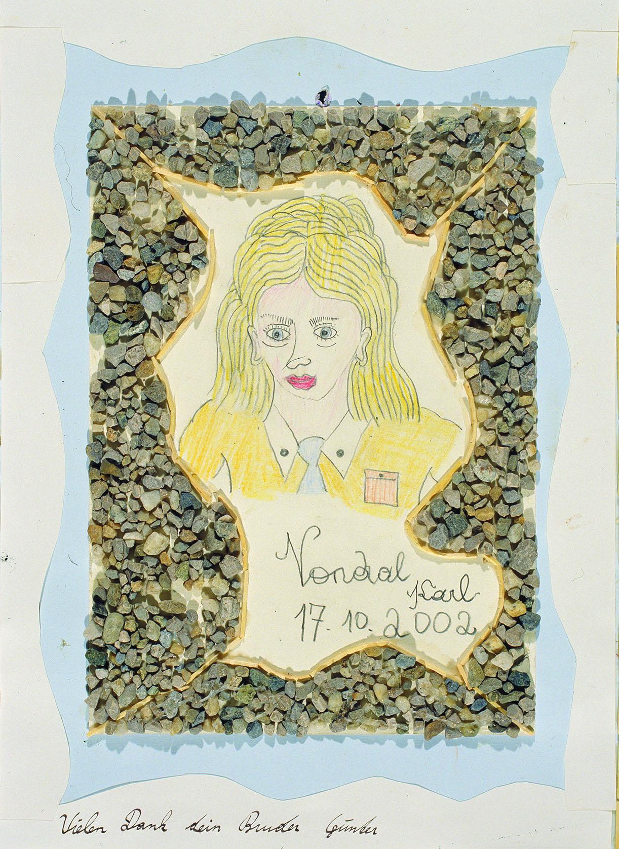 Karl Vondal, Frau, 2002 © Privatstiftung – Künstler aus Gugging