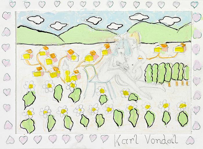 Karl Vondal, Sie macht's mit der Hand, 2013 © Privatstiftung – Künstler aus Gugging