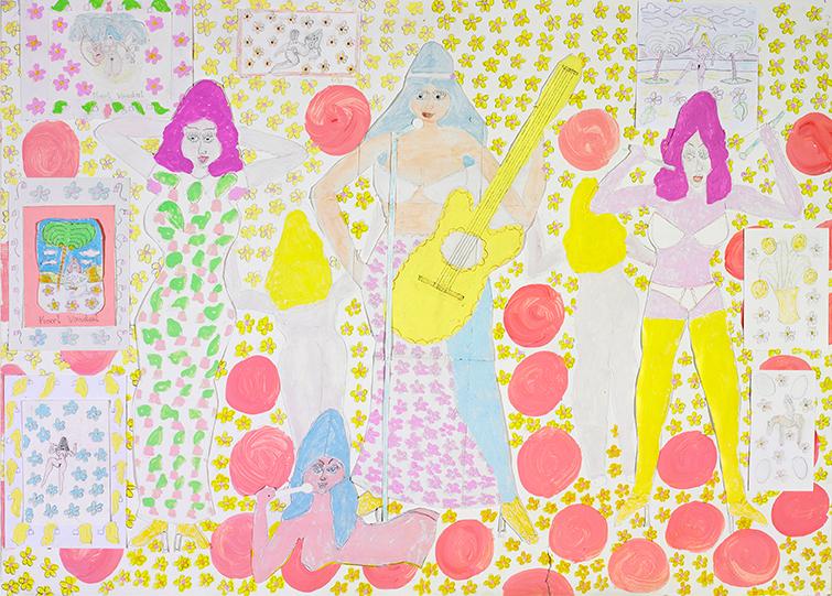 Karl Vondal, Drei Frauen Band, 2013 © Privatstiftung – Künstler aus Gugging