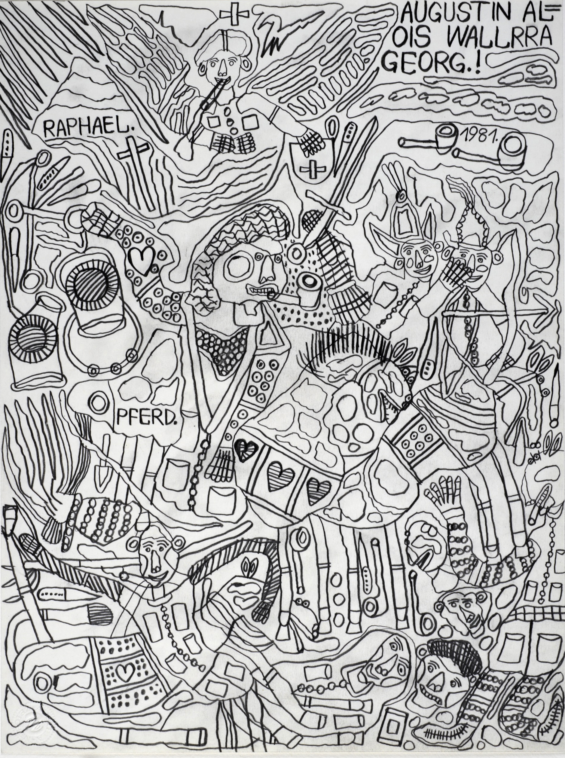 August Walla, RAPHAEL., 1981 © Art Brut KG
