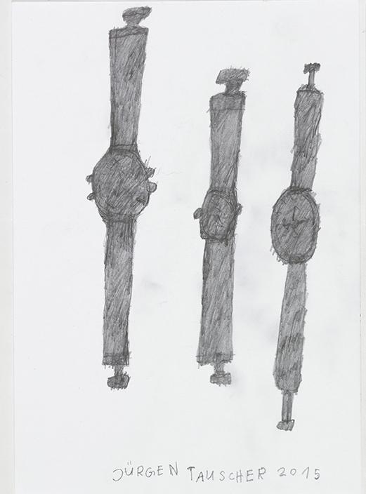 Jürgen Tauscher, Armbanduhren, 2015 © galerie gugging