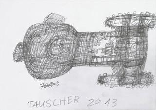 Jürgen Tauscher, Flugobjekt, 2013  © galerie gugging
