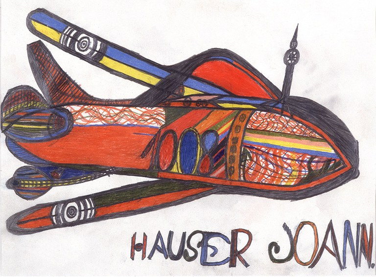 © Johann Hauser, Flugzeug, 1974 © Privatstiftung - Künstler aus Gugging