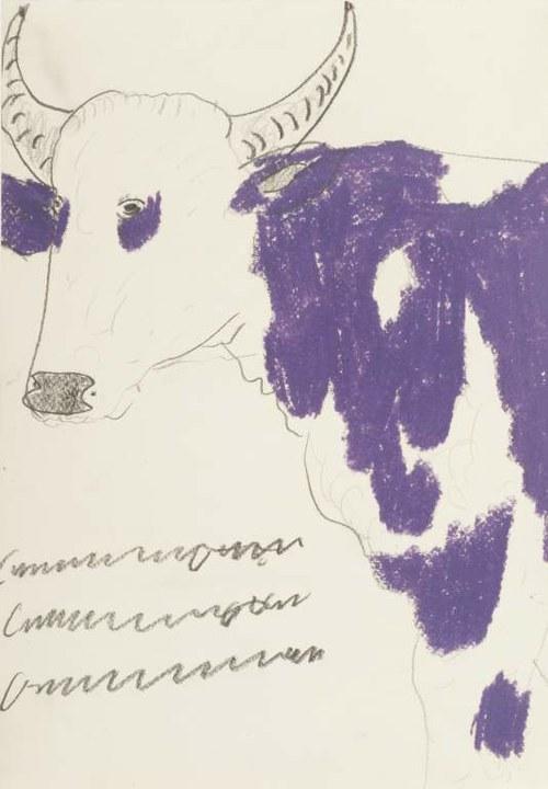 Franz Kamlander, Kuh, undatiert © Privatstiftung Künstler aus Gugging