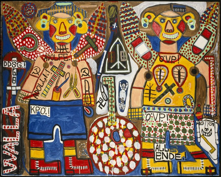 August Walla, Zwei Engel, 1986 © Art Brut KG