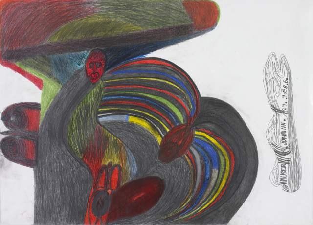 Aloise Corbaz, Le Bateau poules (Das Schiff der Hühner), 1960-1063