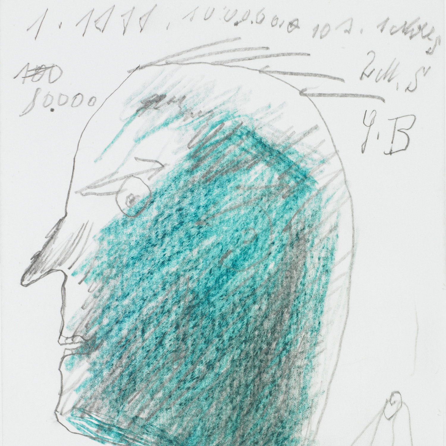 Josef Blahaut, Head, 1979 © private foundation - artists from gugging