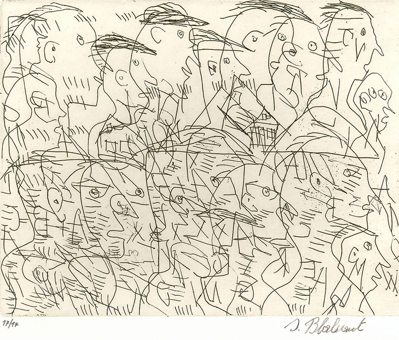 Josef Blahaut, Many Heads, undated © private foundation - artists from gugging