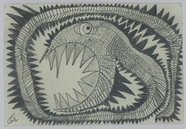 Leonhard Fink, Snake, 2001 © galerie gugging