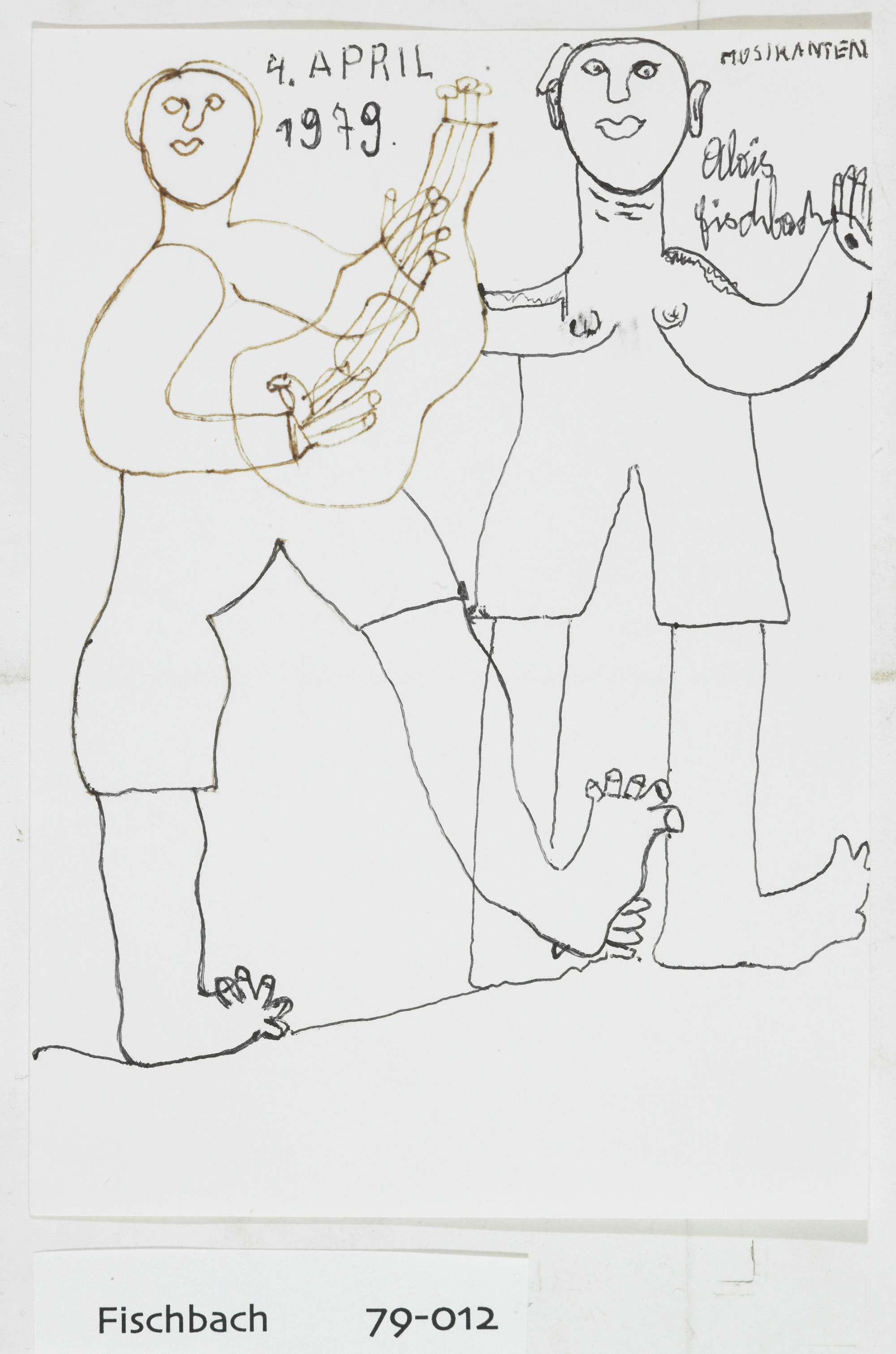 Alois Fischbach, Musicians, 1979 © private foundation - artists from gugging