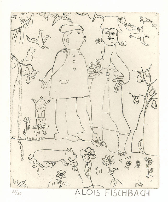 Alois Fischbach, The Couple, undated © private foundation - artists from gugging
