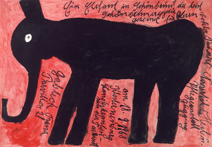Franz Gableck, Elephant, 1968 © private foundation - artists from gugging
