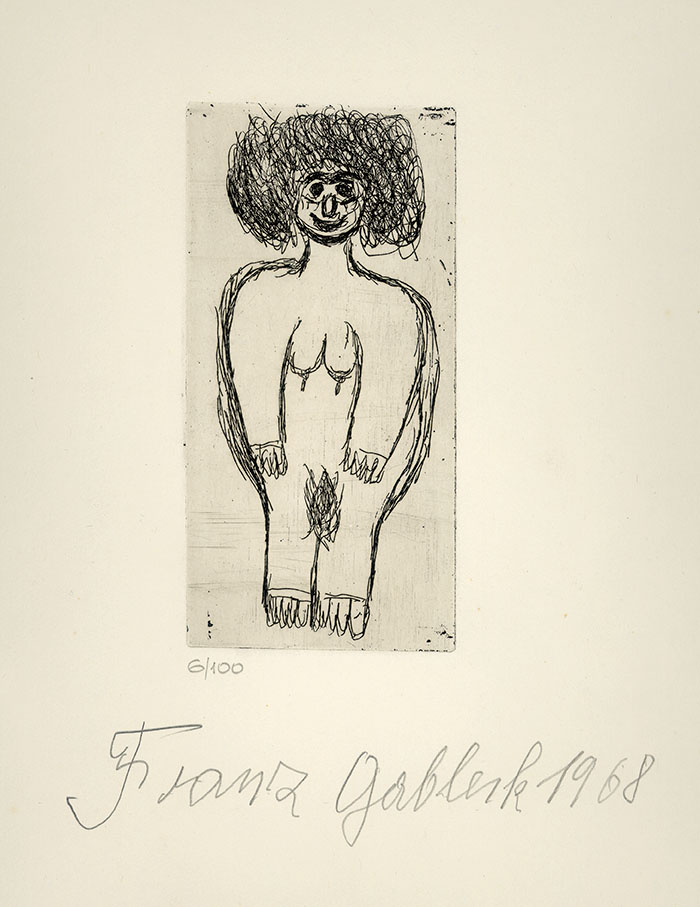 Franz Gableck, Woman, 1968 © private foundation - artists from gugging