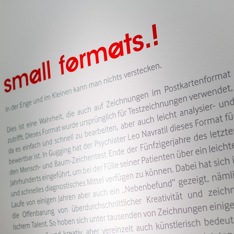 Lettering of the Exhibition © Foto: Ludwig Schedl, 2014